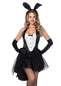 Leg Avenue- Conejita Mujer, Color blanco y negro, M/L (EUR 40-42) (8395106007)