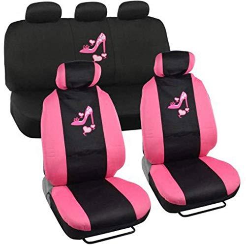 Cpioneer Universal-Sitzbezug Pink High Heels for Frauen Piece Set for die meisten Autos, LKWs, Geländewagen oder Vans Accent High Heel