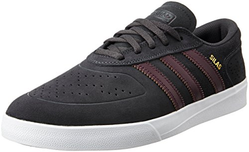 official photos bb6e9 62537 adidas Originals Men s Silas Vulc Adv Dgsogr, Maroon and Ftwwht Leather  Sneakers - 11 UK