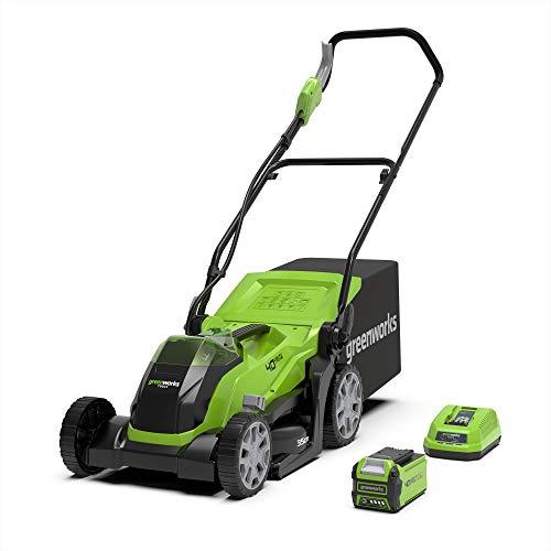 Greenworks Tools 2501907UA Cortacésped Inalámbrico con batería y cargador incluídos, 40 V, Verde...