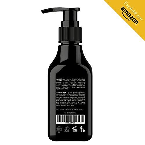 BARBMAN : Shampoing à Barbe (200ml) au Bois de Santal, nettoie visage et barbe en profondeur au quotidien, Cadeau idéal pour homme Barbu.