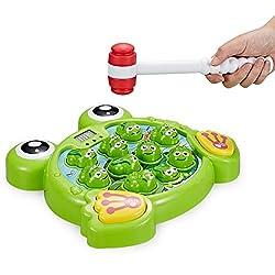 Dieses lustige Schlag den Frosch-Spielzeug bereitet ambitionierten Kindern und Erwachsenen stundenlangen Spaß. Fördern Sie die Konzentration und Auge-Hand-Koordination Ihres Kindes während es spielt und versucht, das beste Ergebnis zu erzielen, wenn ...