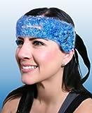 Migraine Relief Wrap mal di testa dolore terapia calda e fredda Head stress Tension Heat New