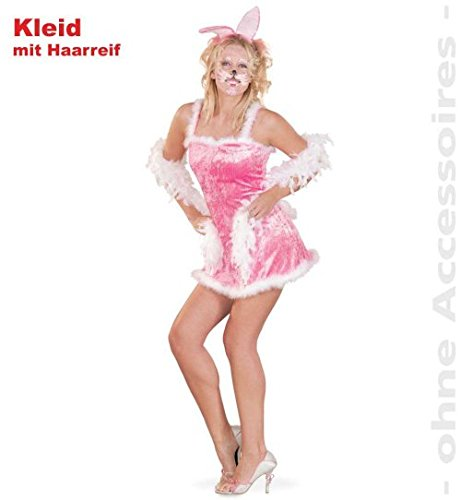 Kostüm Hase - rosa Bunny mit Ohren, für Fasching und Party ()