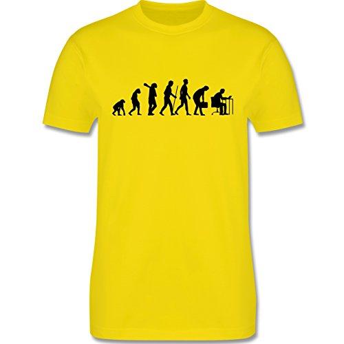 Evolution - Computer Evolution - Herren Premium T-Shirt Lemon Gelb