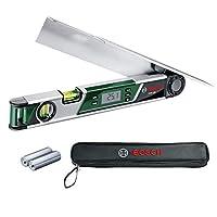 Bosch Home and Garden 603676000 PAM 220 Digital Angle Measurer & Mitre Finder, 0.08 W, 1.5 V, Green, 1