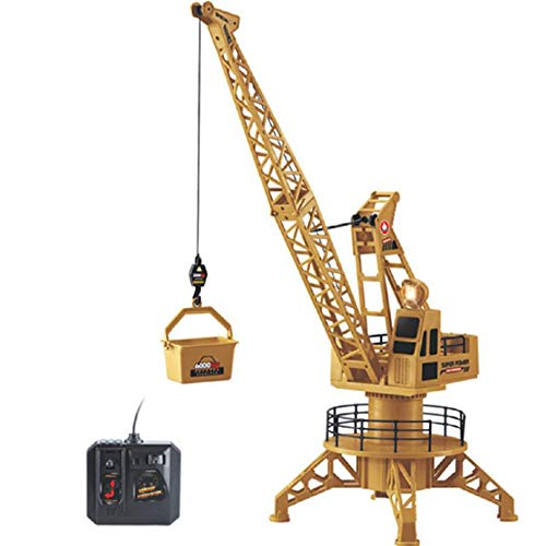 WXIAORONG Remote Control Tower Crane, Electric Crane Remote Control Engineering Car Toy Large Tower Crane Model für Boy Toys Kids Birthday Game Gift - Remote-control Car Kit