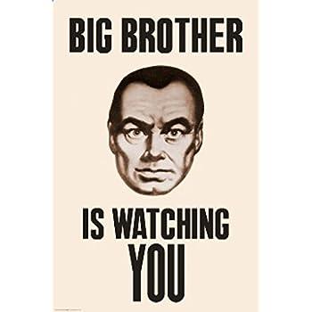 Big Brother Is Watching You 1984 Poster Drucken 6096 X 9144 Cm