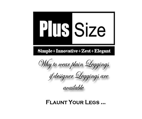 Plus Size Women'S Black With Golden Connecting Dots Leggings(Plussize_Black_Print_P13_30_Black With Golden Connecting Dots_L (30-32 Inches))