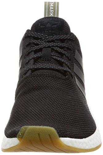 adidas NMD_r2, Scarpe Sportive Uomo Nero (Negbas/Neguti/Cartra)