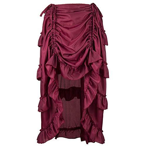 Cinnamou Mini Vestidos Sexys Mujer Cortos y Apretados Falda Vintage Gótico Asimétrico Faldas con Ruffle