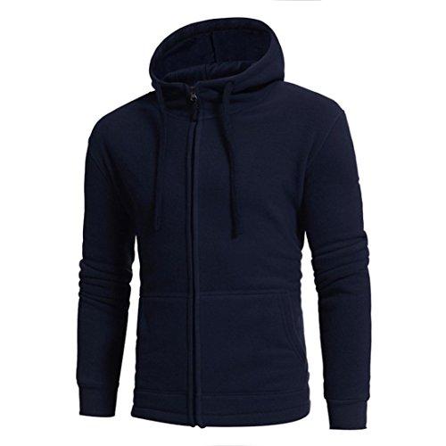Ninasill Herren Herbst und Winter Hoodie Polar Fleece Sweatshirt Tops Coat, Casual Large Navy Polar Shorts