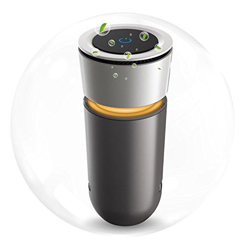 Auto Luftreiniger, USB Luftwäscher Auto Lufterfrischer für Raucher, HiGoing HEPA Filter mit Ionisator, Air Purifier Entfernt Staub, Pollen, Schadstoffe und Geruchsstoffe für Auto Büro Schlafzimmer