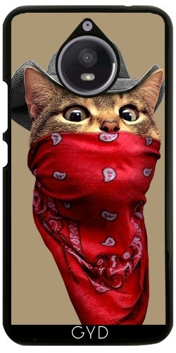 Hülle für Motorola Moto E4 Plus - Katze Räuber by Adam Lawless