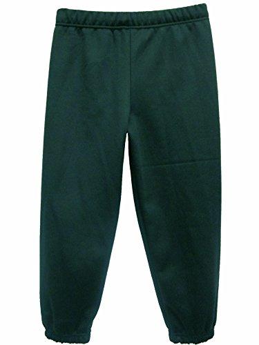 Boys Girls Childrens Kids School PE Fleece Jogging Tracksuit Bottoms Trousers (28 6-7 years, Bottle Green)