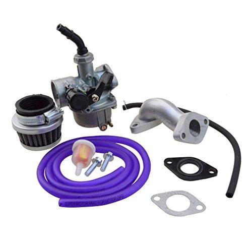 Goofit 19mm Racing Hand Kabel Vergaser Luftfilter Montage Carb Einlass Choke Rohrdichtung Kraftstoffschlauch SUNL Linie 50cc 70-110 125cc ATV Dirt Taotao (violett)