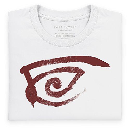 Official The Dark Tower Crimson Eye T-Shirt, Herren Wei