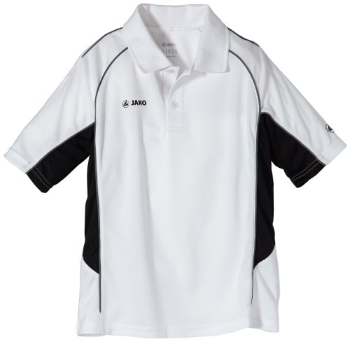 Jako Kinder Polo-Hemd Attack 2.0, Weiß/Schwarz, 164, 6372-00