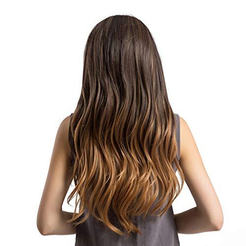 Parrucca di capelli lunghi medi,parrucca pilota lunga capelli neri castani,linlink pilota marrone scuro capelli lunghi extension coda capelli con elastico