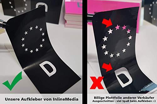 KFZ Kennzeichenaufkleber zum einfachen ändern der blauen EU Nummernschild Fläche in schwarz - 4