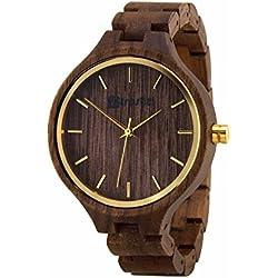 Holz Armbanduhr Portobelo Nut - Damen