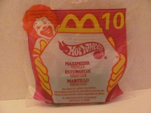 Mattel HOT WHEELS - McDONALD'S Happy Meal TOY CAR - MAXIMIZER - Bag #10 - (3 Happy Meal)