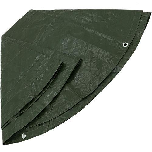 Bâche en polyéthylène rond vert type 480300 ø 3 m