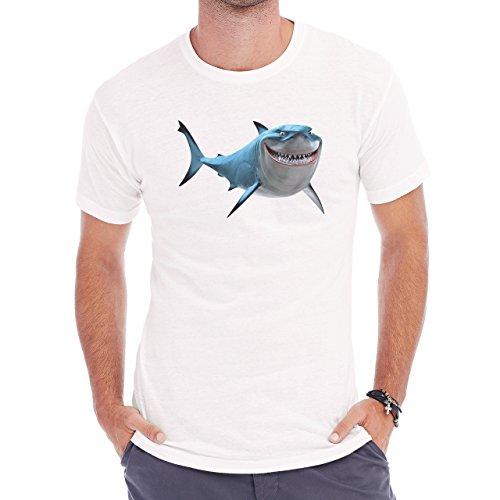Shark Sea Fish Predator Great White Blue Herren T-Shirt Weiß