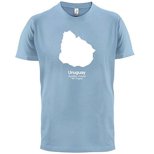 Uruguay / Republik Östlich des Uruguay Silhouette - Herren T-Shirt - 13 Farben Himmelblau