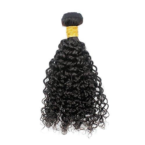 Romantic Angels®16''(40cm) Afro Kinky Extensions de Cheveux Bouclés, Remy Cheveux Humains Tissage Grade 5A, Naturel Noir#1b