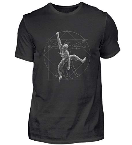 Shirtee Vitruvian Hombre Escalada - Todos escaladores