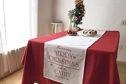 Tischläufer Tischdecke Weihnachten Stoff und Spitze Tisch Flagge Antependium Festival Geschenk Rot ( größe : With Tablecloth 140*220cm ) -