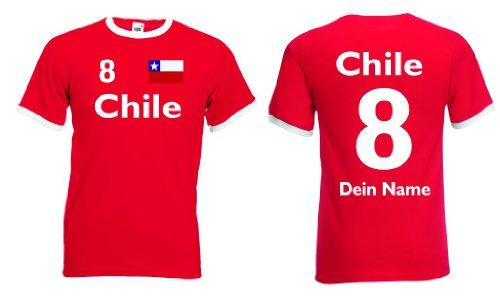 Chile Retro Trikot mit Wunschname & Nummer von S-XXL|l