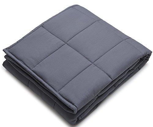 IMFFSE Schwerkraft-Decke Erwachsene Kinder Verbessern Schlafengewicht-Decke Behandlung Der Dekompression, Angst, Schmerz, Perfektes Geschenk 150 * 200CM (7KG) Dunkelgrau