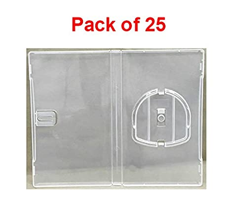 (Pack Of 25) Masterstor 14mm Deep Clear Umd Game Replacement Clear Cases For Sony Psp CD Case Umd Case Made From Stylish Clear