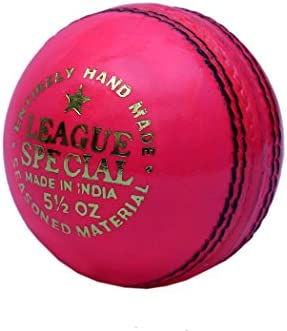 CW Cricket pelota de piel rosa en paquete de seis bolas