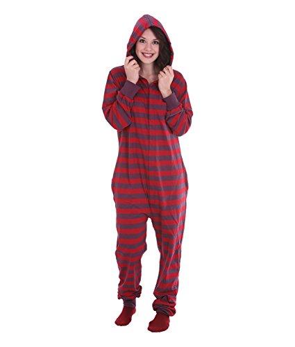 Overall, Erwachsenenstrampler, Ganzkörperschlafanzug, einteiliger Pyjama, Schlafanzug aus Baumwolle, in Unisexgrößen RETRO FUNZEE (Large)