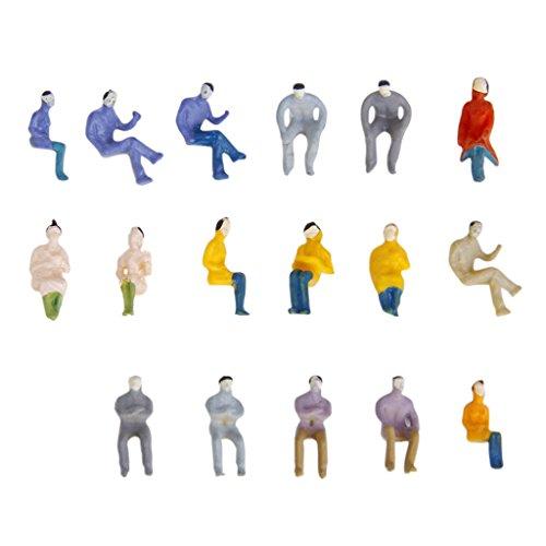 100 Stück Painted Modellbahn Sitzende Menschen Passagiere Figuren 1:100 HO TT Maßstab Modellbahn-figuren