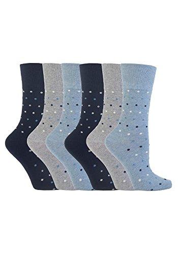 Calcetines - Lunares - para mujer Multicolor azul vaquero Talla única