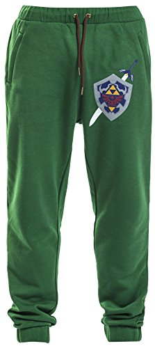 The Legend of Zelda Hyrule Shield Pantaloni jogging verde S