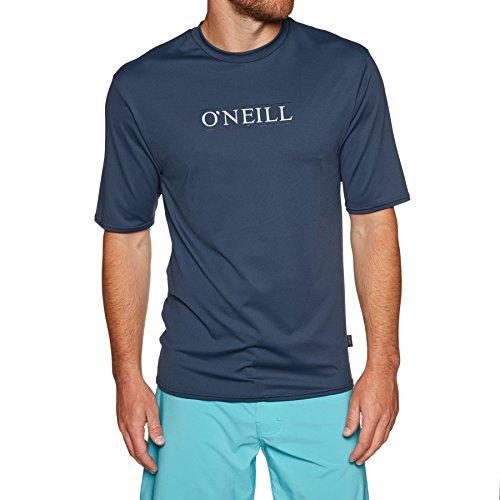 O'Neill Herren Rash Guard Skins S/S Rash Tee 001 SLATE S - S/s Herren Rash Guard