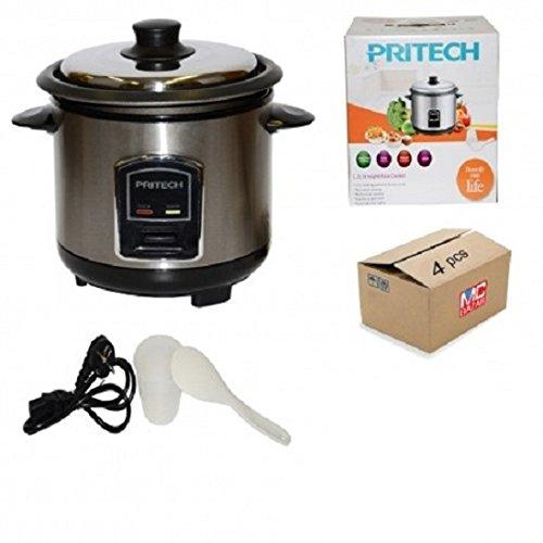Pritech - Cocedor de arroz automático al vapor anti- adherente de acero...