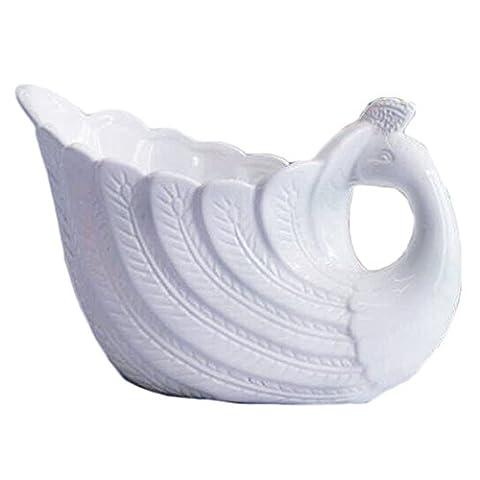 THANLY Elegant Peacock Style Ceramic Vase Porcelain Flower Vase Idea