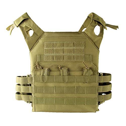 zhuyu Taktische Weste Taktische Weste Rucksack Erwachsene Camo Dschungel Sicherheitsweste CS Game Equipment, Khaki