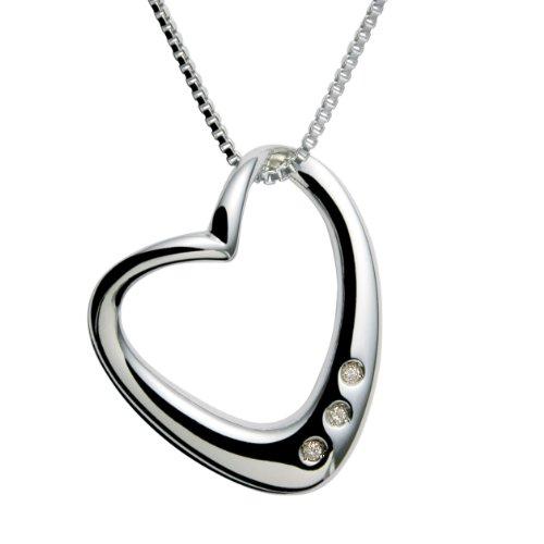 Hot Diamonds Schmuck Kette 925 Sterling Silber mit echten Diamanten DP028 Preisvergleich
