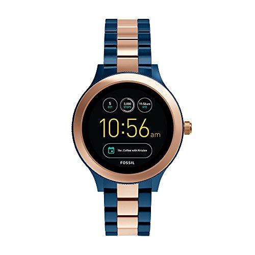 Fossil Venture Black Dial Women's Smart Watch - FTW6002