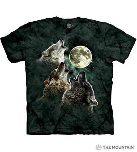 The Mountain Herren T-Shirt Three Wolf Moon Kurzarm - Grün - Klein