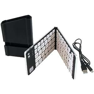 iWerkz Universal Foldable Bluetooth Keyboard, Black/White (44652BW)