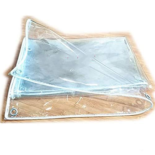 WSC Thick PVC Weich-PVC Außen Regen Fenster Windschutzscheibe Ölbeständiges Persenning (Größe : 2M × 2.5M)