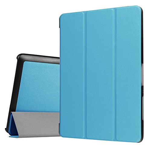 WiTa-Store Tasche für Acer Iconia One Tab 10 B3-A30 / A3-A40 10.1 Zoll Schutz Hülle Flip Tablet Cover Case (Hellblau)